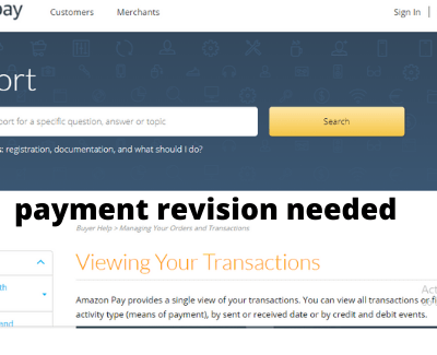 payment revision needed